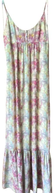 Item - Pink Blue Green Msrp Long Casual Maxi Dress Size 4 (S)