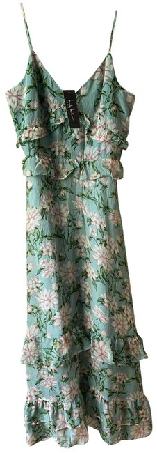 Item - Green Pink Floral Msrp Long Casual Maxi Dress Size 4 (S)