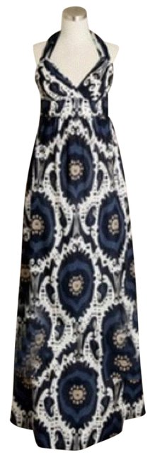 Item - Blue Cream Collection Summer Print Halter Long Casual Maxi Dress Size 4 (S)