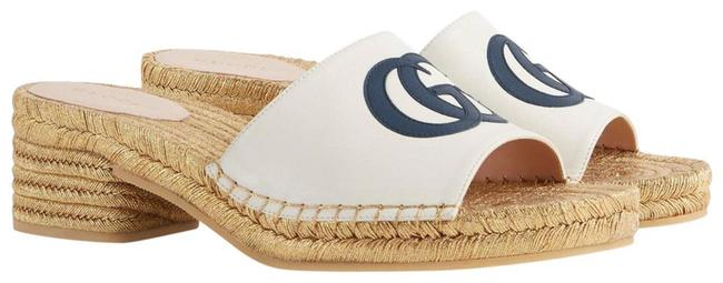 Item - Off White Navy New Gg Leather Espadrilles Sandals Mules/Slides Size EU 40 (Approx. US 10) Regular (M, B)