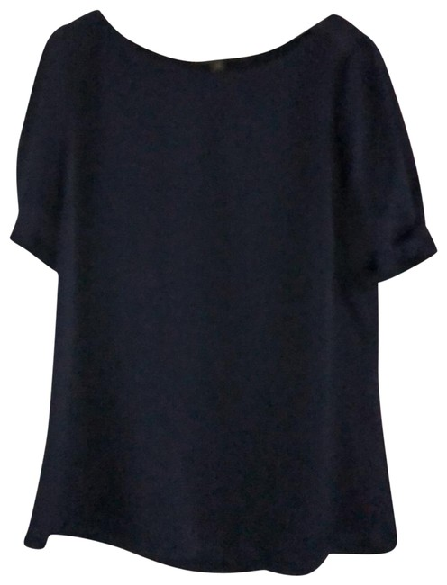 Item - Navy Blue Puffed Sleeve Blouse Size 10 (M)