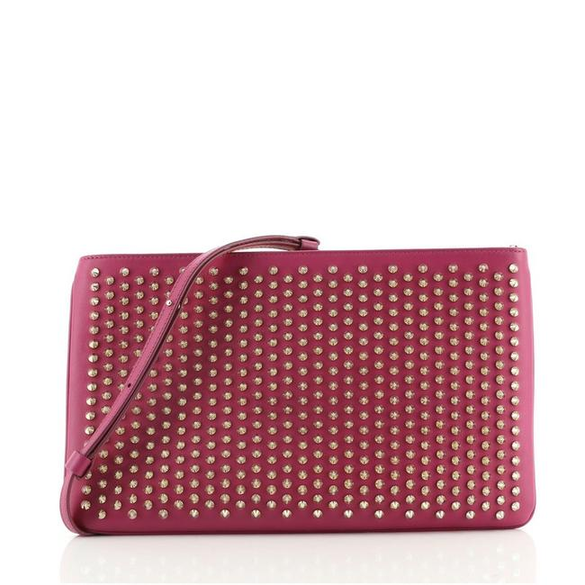 Item - Loubiposh Spiked Pink Leather Clutch