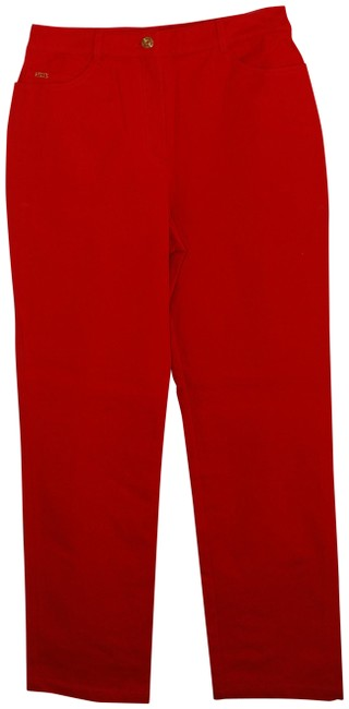 Item - Red Straight Leg Jeans Size 29 (6, M)