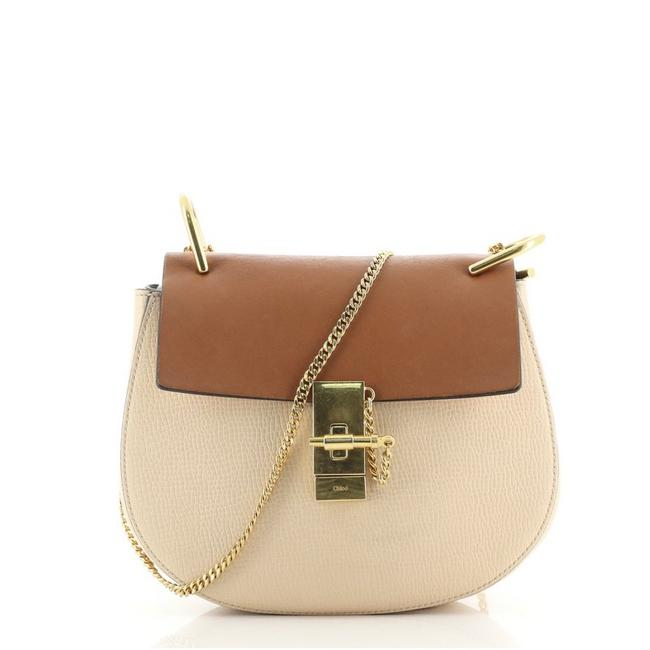 Item - Drew Small Brown Neutral Leather Cross Body Bag