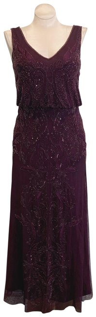 Adrianna Papell Deep Amethyst 40828493 Long Cocktail Dress Size 6 (S) Adrianna Papell Deep Amethyst 40828493 Long Cocktail Dress Size 6 (S) Image 1