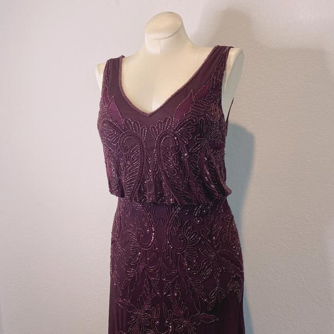 Adrianna Papell Deep Amethyst 40828493 Long Cocktail Dress Size 6 (S) Adrianna Papell Deep Amethyst 40828493 Long Cocktail Dress Size 6 (S) Image 2
