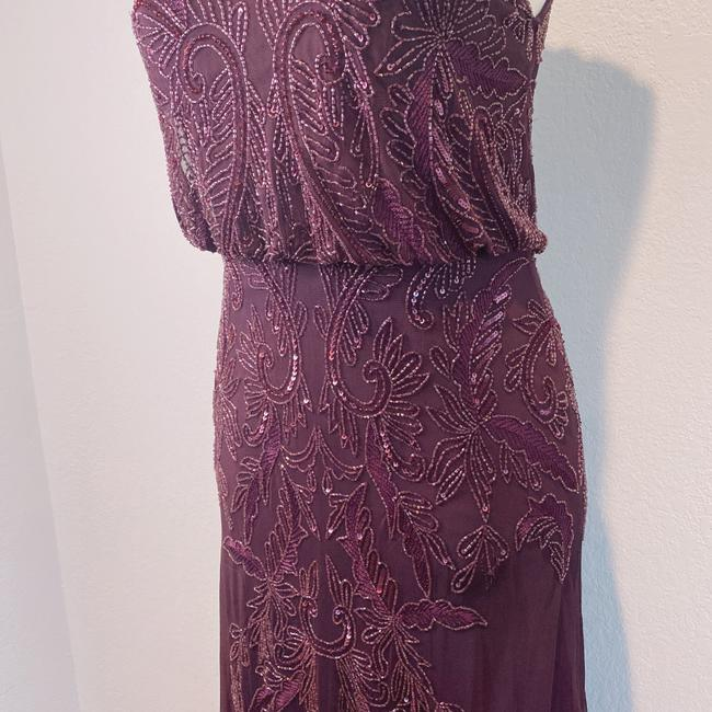 Adrianna Papell Deep Amethyst 40828493 Long Cocktail Dress Size 6 (S) Adrianna Papell Deep Amethyst 40828493 Long Cocktail Dress Size 6 (S) Image 3
