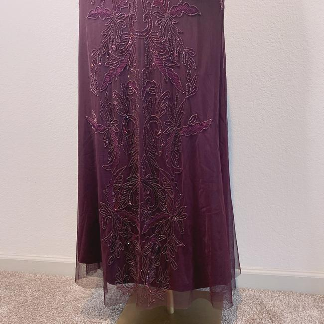 Adrianna Papell Deep Amethyst 40828493 Long Cocktail Dress Size 6 (S) Adrianna Papell Deep Amethyst 40828493 Long Cocktail Dress Size 6 (S) Image 4