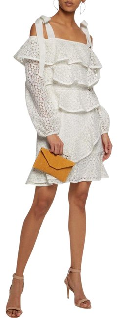 Item - White Farina Tiered Lace Short Cocktail Dress Size 6 (S)