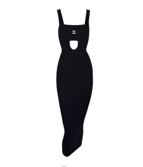 Item - S/S 1998 Black Cut-out Bodycon Pin-up Wiggle Long Casual Maxi Dress Size 2 (XS)