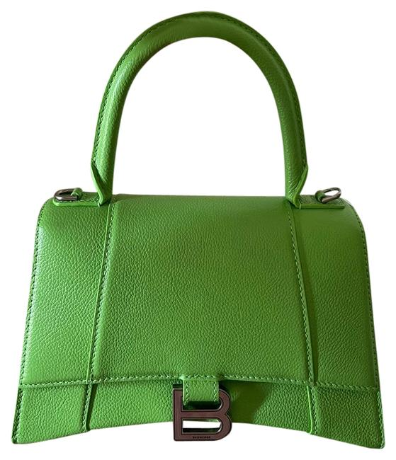 Item - Hourglass (Small Size) Green Leather Satchel