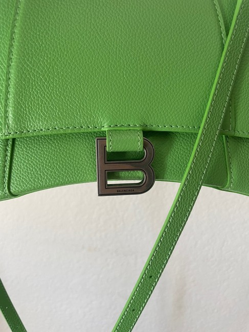 Balenciaga Hourglass (Small Size) Green Leather Satchel Balenciaga Hourglass (Small Size) Green Leather Satchel Image 3