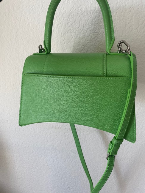 Balenciaga Hourglass (Small Size) Green Leather Satchel Balenciaga Hourglass (Small Size) Green Leather Satchel Image 4