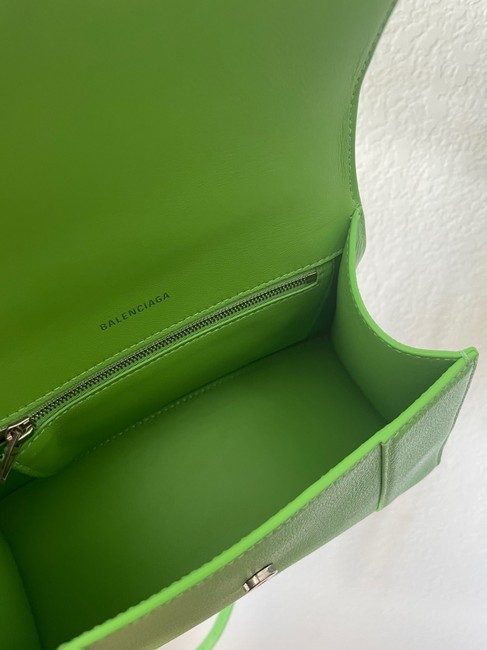 Balenciaga Hourglass (Small Size) Green Leather Satchel Balenciaga Hourglass (Small Size) Green Leather Satchel Image 5