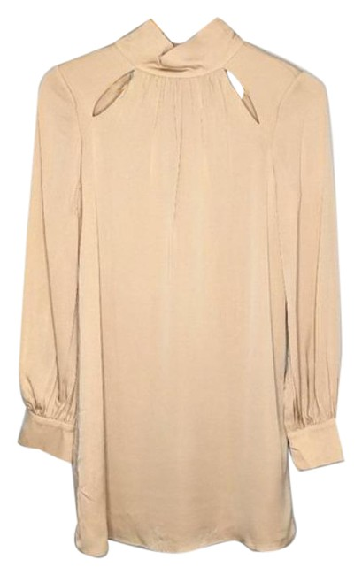 Item - Warm Taupe Silk Cut Short Night Out Dress Size 2 (XS)