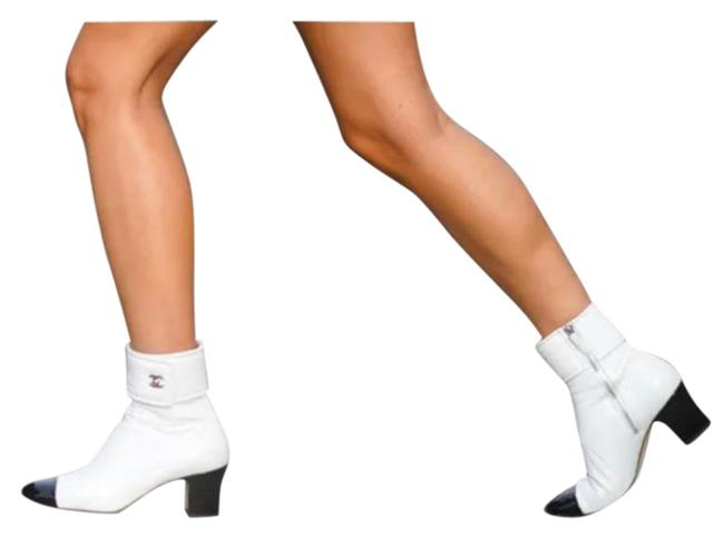 Item - White / Black Lock Coco Ankle Boots/Booties Size EU 36 (Approx. US 6) Regular (M, B)