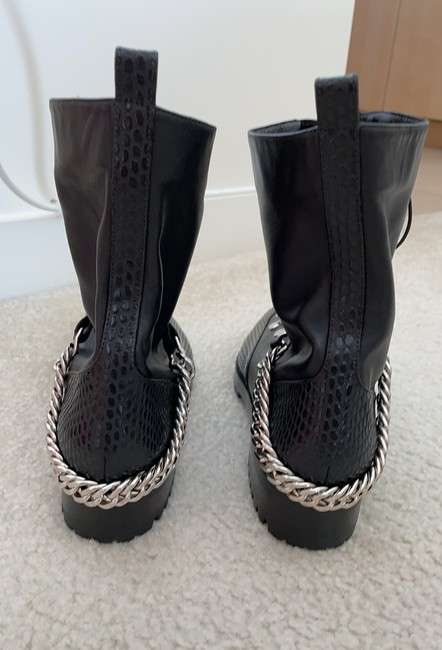 Christian Louboutin Black Silver Hardware Guarda Ankle Boots/Booties Size US 8 Regular (M, B) Christian Louboutin Black Silver Hardware Guarda Ankle Boots/Booties Size US 8 Regular (M, B) Image 5