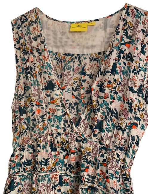 Item - Multi Color with Flowers and Birds Cotton Slip Long Casual Maxi Dress Size 8 (M)
