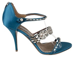 Tabitha Simmons Teal Sandals