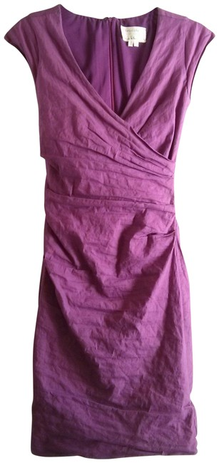 Item - Orchid Pink Ruched Faux Wrap Sheath Night Out Dress Size 2 (XS)