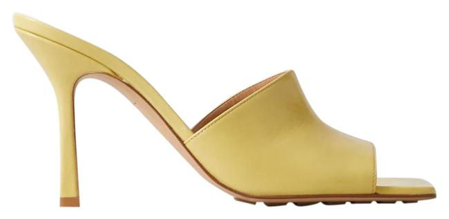 Item - Yellow New Leather Heeled Sandals Mules/Slides Size EU 34.5 (Approx. US 4.5) Regular (M, B)