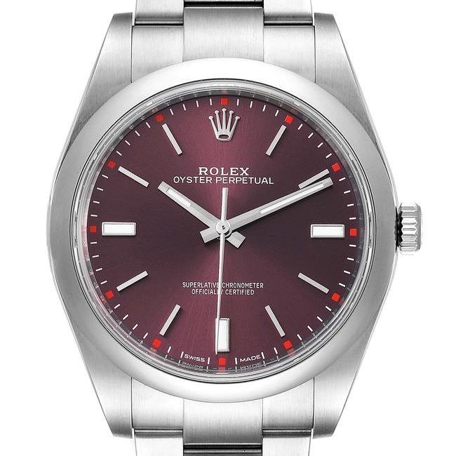 Item - Red Grape Oyster Perpetual Dial Steel Mens 114300 Watch