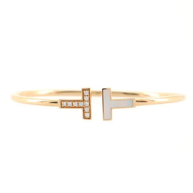 Item - Rose Gold T Wire 18k with Diamonds and Mother Of Pearl Bracelet