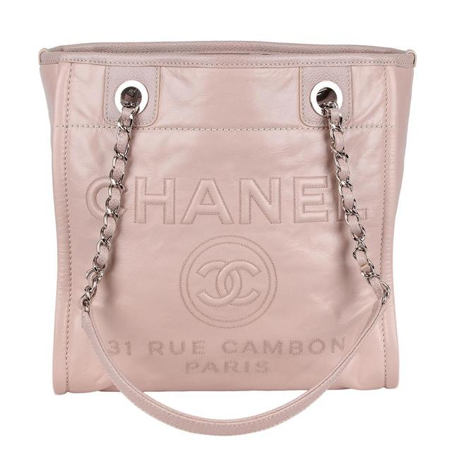 Item - Deauville 7154 Pink Leather Tote