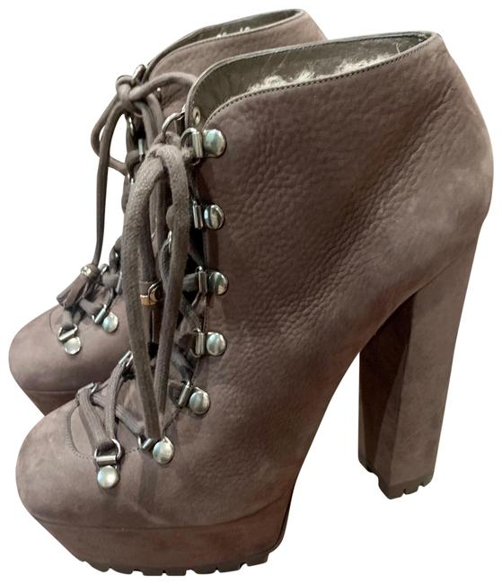 Item - Gray Suede Kayla Lace Up Platfom Boots/Booties Size EU 40 (Approx. US 10) Regular (M, B)