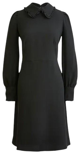 Item - Black New Collar Button Mid-length Cocktail Dress Size 4 (S)
