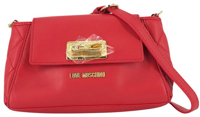Item - Quilted Clothespin Flap #35371 Red Leather Cross Body Bag