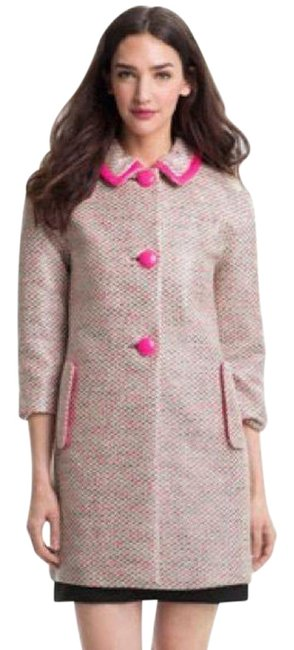 Item - Pink Neon Hot Piece Button Front Peacoat Jacket Size 6 (S)