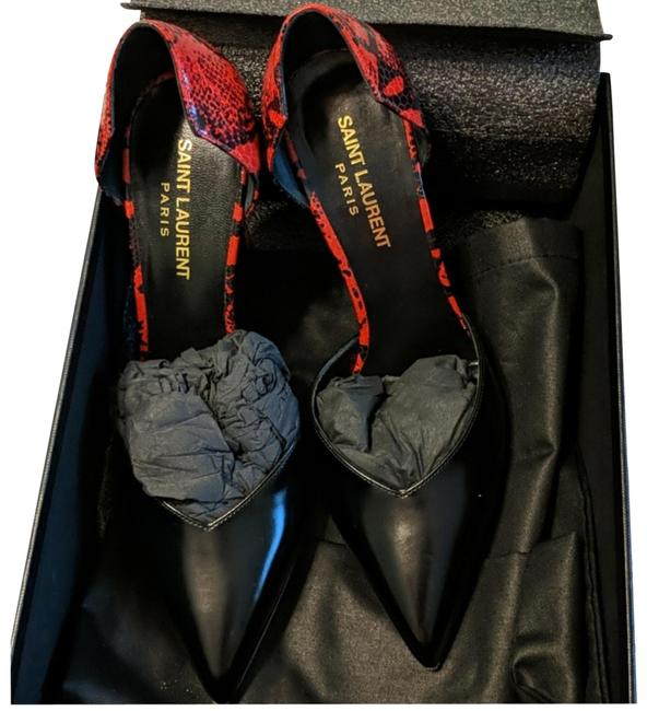 Item - Red and Black with Sneak Pattern Ketta Pumps Size EU 37 (Approx. US 7) Regular (M, B)