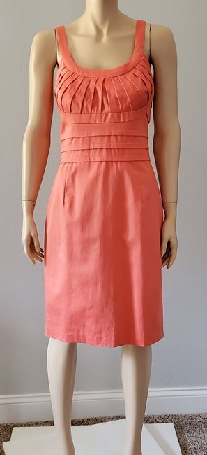 Marvin Richards Coral Pleated Mid-length Casual Maxi Dress Size 10 (M) Marvin Richards Coral Pleated Mid-length Casual Maxi Dress Size 10 (M) Image 4