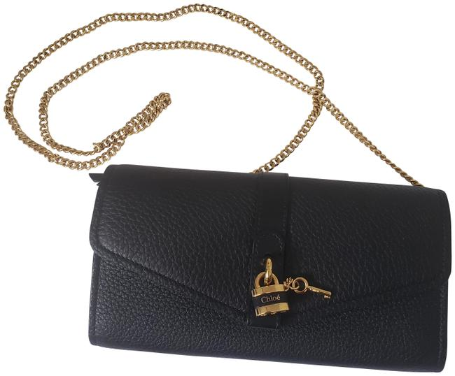 Item - Clutch New Collection Pebbled Black Leather Cross Body Bag