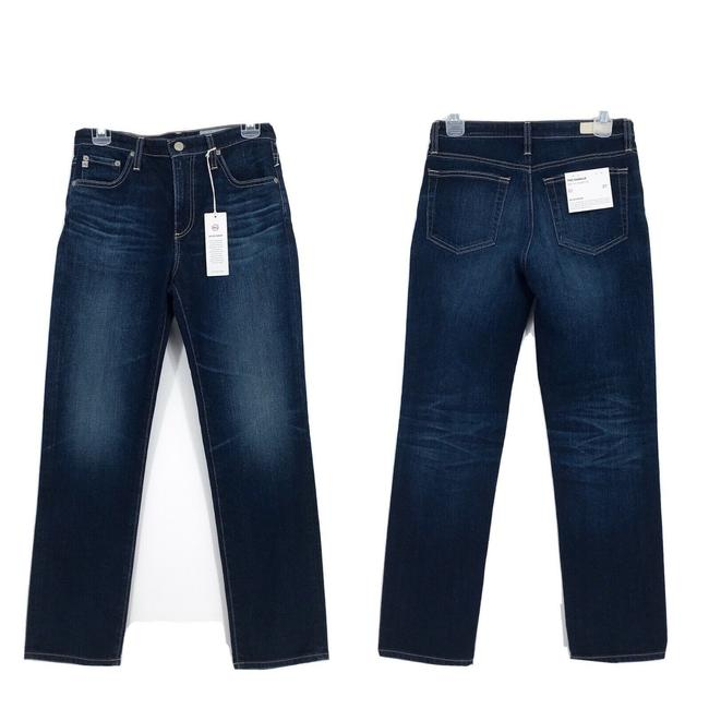 Item - Blue Dark Rinse Isabelle High Crop Ag-ed Straight Leg Jeans Size 27 (4, S)