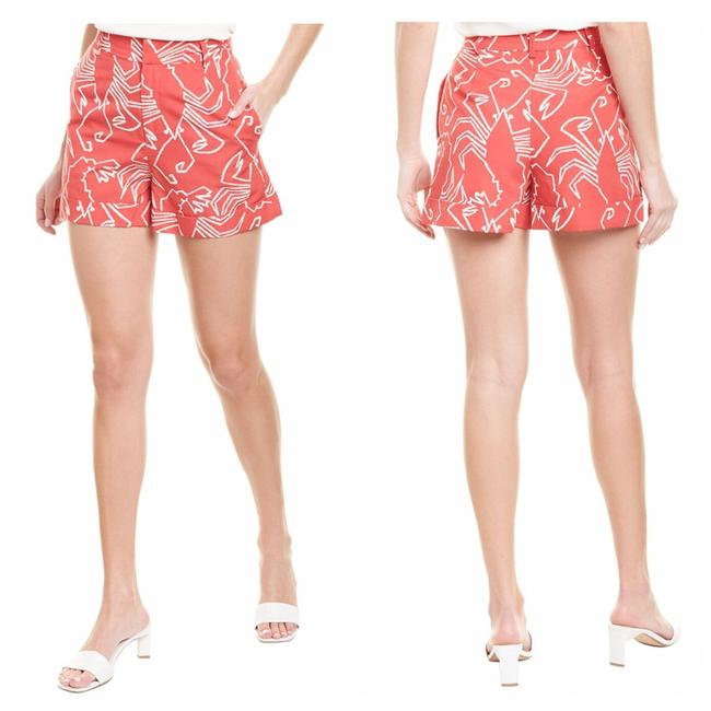 Item - Red High-rise Linen-blend Shorts Size 10 (M, 31)