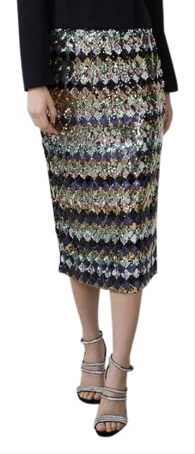Item - Multicolor New Nwot Sequin Small 2712/250 Skirt Size 4 (S, 27)