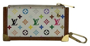 Louis Vuitton Murakami Monogram Key Cles Coin Case LVGR01