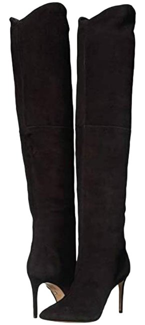 Item - Black Suede Leather Over The Knee Boots/Booties Size US 8.5 Regular (M, B)