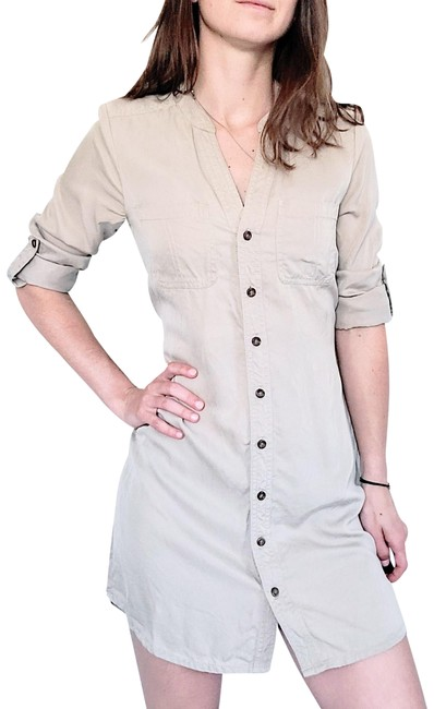 Item - Tan Trench Belted Cappuccino Global Short Casual Dress Size Petite 0 (XXS)