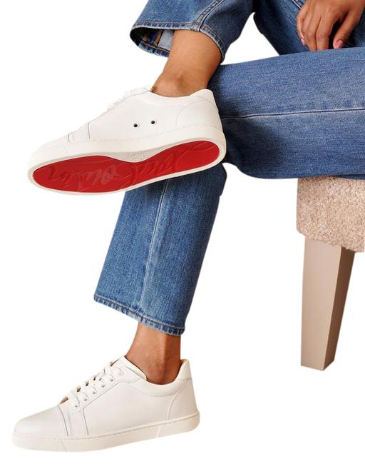 Item - White Vieira Lace-up Red Sole Sneakers Size EU 38.5 (Approx. US 8.5) Regular (M, B)