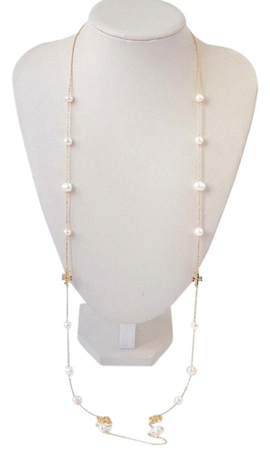 Item - Ivory/Gold Kira Pearl Long Necklace