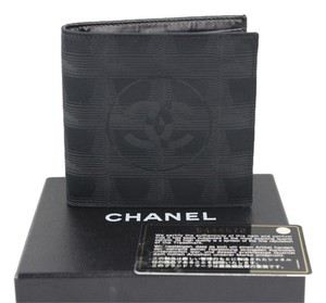 Chanel Chanel CC Black Wallet Men's Billfold