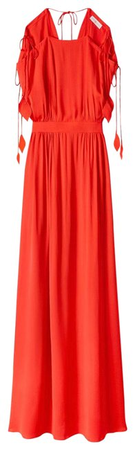 Item - Red New Evalene Tie Shoulder Long Casual Maxi Dress Size 4 (S)
