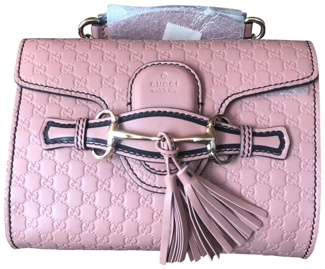 Item - Emily Pink Leather Cross Body Bag
