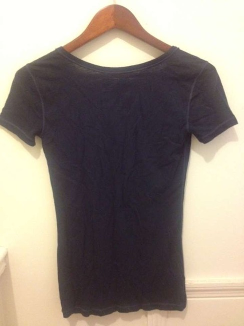 Hollister T Shirt Navy with tribal embroidery