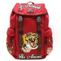 Gucci Embroidered Tiger Rucksack Techno Canvas 429037 Multi-color / Red Color Leather Backpack Gucci Embroidered Tiger Rucksack Techno Canvas 429037 Multi-color / Red Color Leather Backpack Image 1