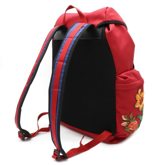 Gucci Embroidered Tiger Rucksack Techno Canvas 429037 Multi-color / Red Color Leather Backpack Gucci Embroidered Tiger Rucksack Techno Canvas 429037 Multi-color / Red Color Leather Backpack Image 2