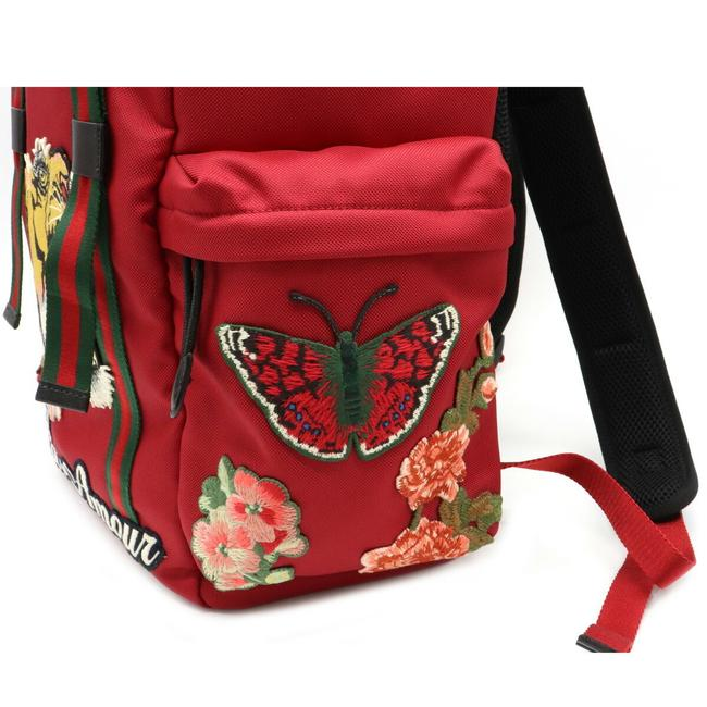 Gucci Embroidered Tiger Rucksack Techno Canvas 429037 Multi-color / Red Color Leather Backpack Gucci Embroidered Tiger Rucksack Techno Canvas 429037 Multi-color / Red Color Leather Backpack Image 8